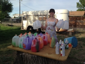 Painting Milk Jugs
