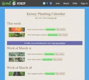 SproutRobot Calendar